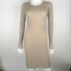 BCBGMAXAZRIA Small Fitted Ribbed Long Sleeve Dress